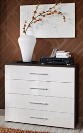ASM Go Chest Of Drawers Wenge/White Gloss