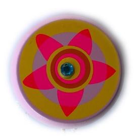 Woody Yo-Yo Light Pink With Flower 90735