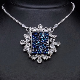 Diamond Sky Pendant Crystal Mosaic With Swarovski Crystals