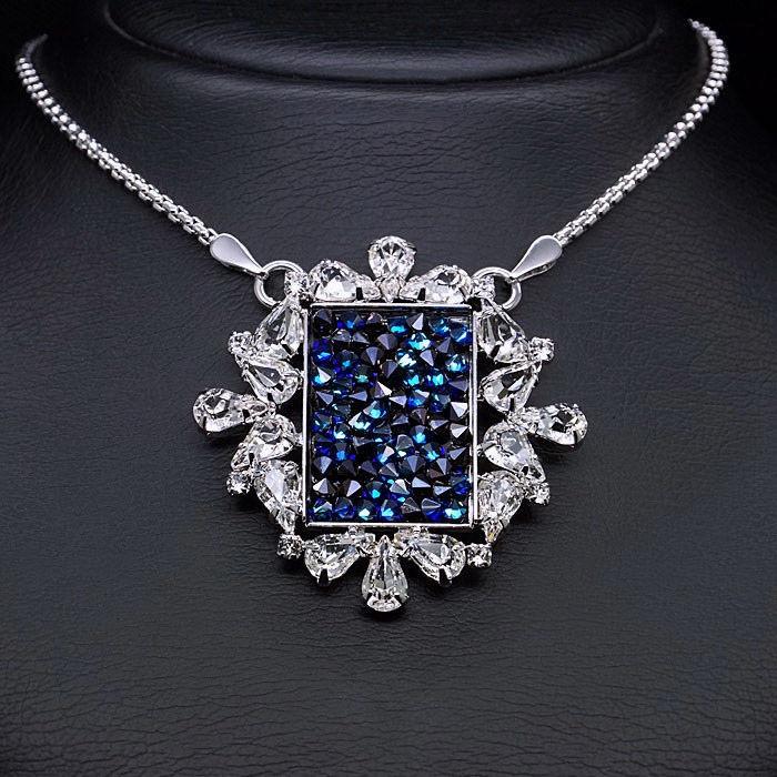 Diamond Sky Pendant Crystal Mosaic With Swarovski Crystals
