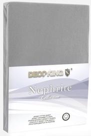 Voodilina DecoKing Nephrite, hall, 160x200 cm, kummiga