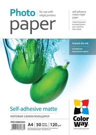 ColorWay Photo Paper A4 120 Matte Self-adhesive 50 Pages