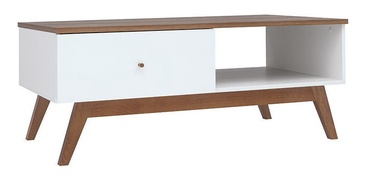 Black Red White Heda Coffee Table White/Larch