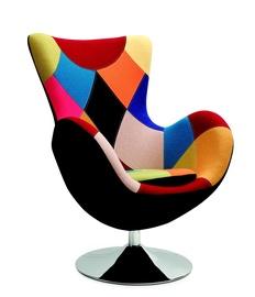 Atzveltnes krēsls Halmar Butterfly Patchwork, 76x75x95 cm