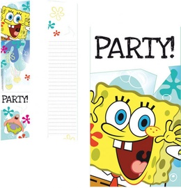 Amscan Sponge Bob Invitations & Envelopes 997781