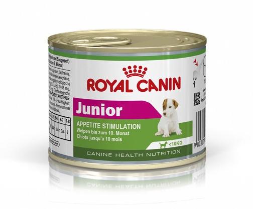 Konservuotas ėdalas šunims Royal Canin Mini Junior, 195 gr
