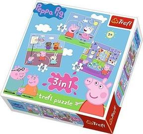 Trefl Peppa Pig 3-in-1 Puzzle 34813