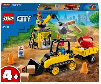 Конструктор LEGO City Строительный бульдозер 60252, 126 шт.