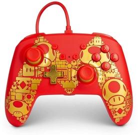 PowerA Super Mario Golden M Controller Red