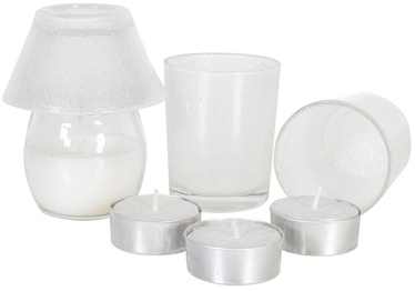 Home4you Candle Set Winter Breeze White