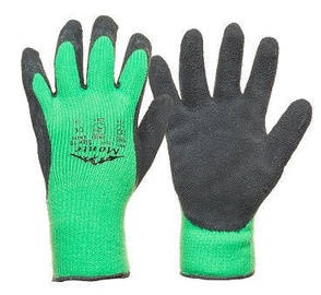 Monte Gloves Knitted Warm Gloves Latex Non-Slip Coating 10