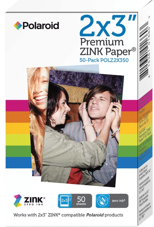 Polaroid 2x3 Premium ZINK Photo Paper 50 Sheets