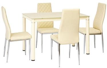 Обеденный стол Signal Meble Modern Galant, кремовый, 1100x700x750мм