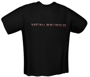Футболка GamersWear Natural Skiller T-Shirt Black XXL