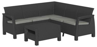 Sodo baldų komplektas Keter Allibert Dark Grey
