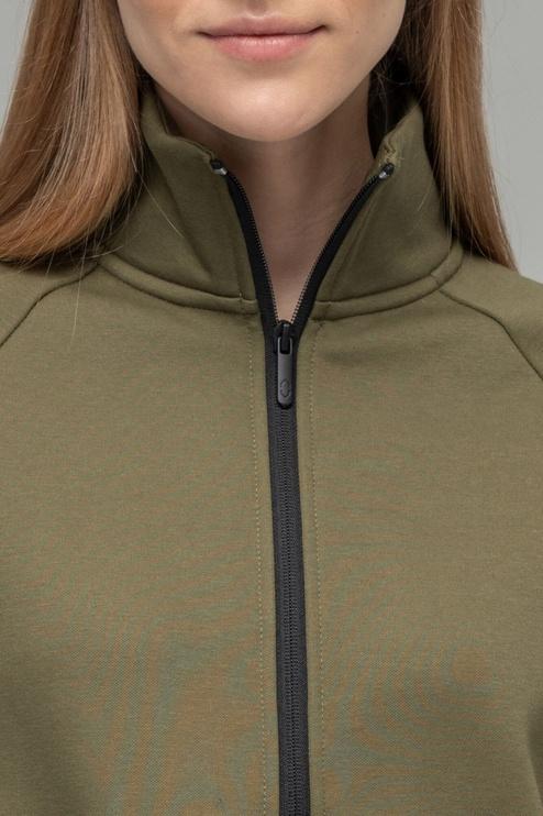 Audimas Soft Cotton Dress Olive Green XS