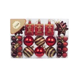Eglutės žaisliukai Christmas Touch, 6 cm, 45 vnt