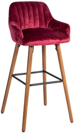 Home4you Bar Stool Ariel Wine Red