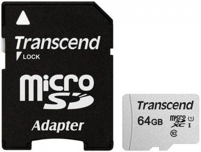 Transcend 300S 64GB microSDXC CL10 UHS-I + Adapter