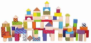 Viga Wooden Blocks Colorful Blocks Set 100pcs 59696