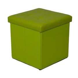 Pufas su daiktadėže, žalias, 38 x 38 x 37,5 cm