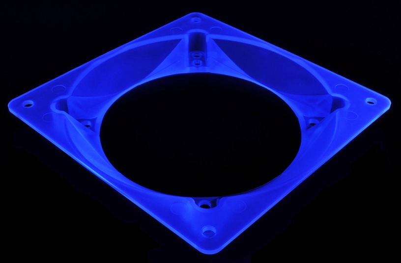 Bitspower Ultimate Fan Adapter 120mm To 80/92mm UV Blue