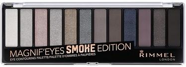 Akių šešėliai Rimmel London Magnif'Eyes Eye Contouring Palette Smoke Edition, 14 g