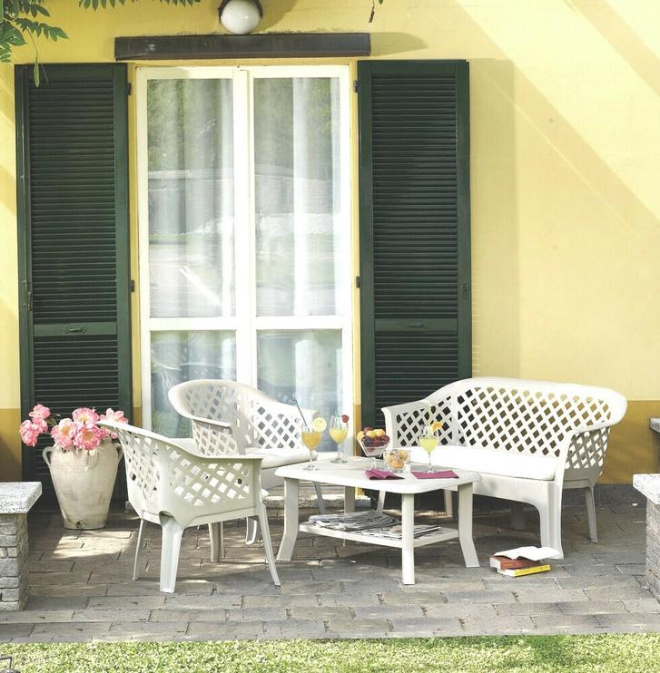 Sodo baldų komplektas Progarden Veranda, baltas, 1-4 vietų