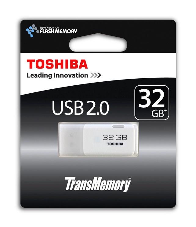 USB atmintinė Toshiba TransMemory White, USB 2.0, 32 GB