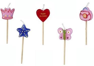 Pap Star Princess Friends Girls Candle Decors 5pcs