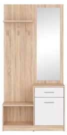 Black Red White Hallway Unit Nepo Plus Sonoma Oak/White