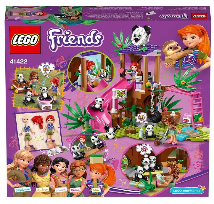 Конструктор LEGO Friends Джунгли: домик для панд на дереве 41422, 265 шт.