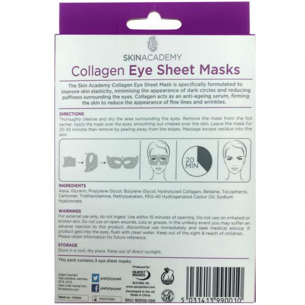 Skin Academy Collagen Eye Sheet Mask 3pcs