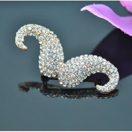 Vincento Brooch With Zirconium Crystal LD-1042