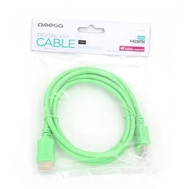 Omega HDMI To HDMI Cable 1.5m Green