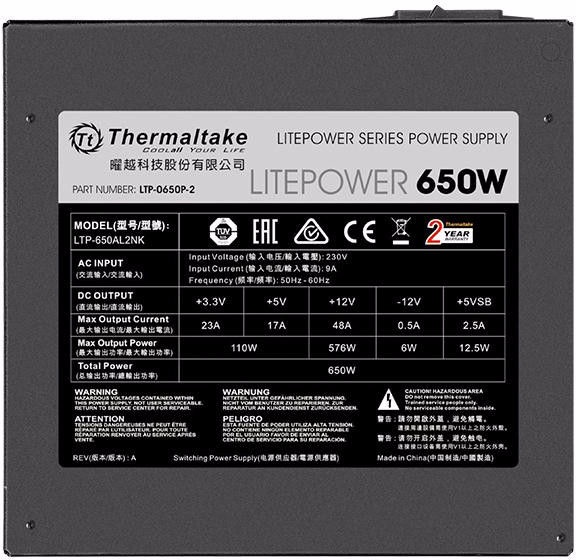 Thermaltake ATX 2.3 Litepower 650W PS-LTP-0650NPCNEU-2