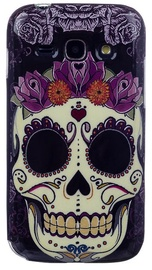 Zooky Silicone Back Case With Skulls Art Design Samsung Galaxy Ace 3