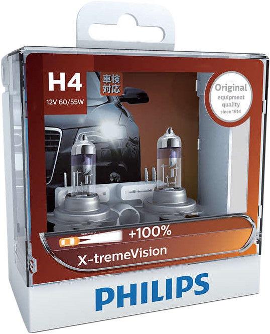 Автомобильная лампочка Philips H4 X-tremeVision Car Headlight Bulb 2pcs