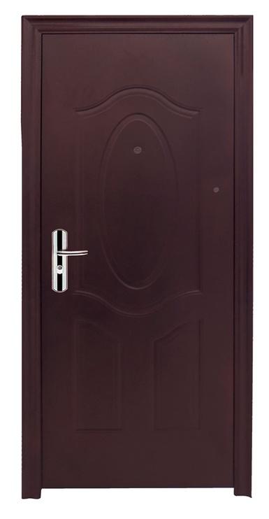 Plieninės vidaus durys JC32, rudos, kairinės, 205x86 cm