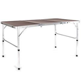 Стол для кемпинга Verners Mobby Brown, 135 x 65 x 40 - 70 см