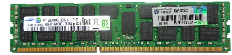 HP 8GB 1Rx4 PC3-12800R-11 Kit RDIMM
