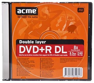 Acme DVD+R DL 8X 8.5GB Slim Box