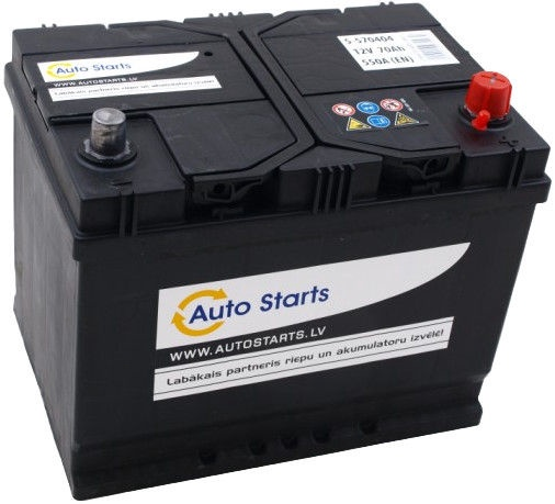 Аккумулятор Auto Starts, 12 В, 70 Ач, 550 а