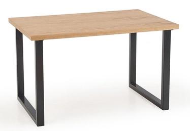 Halmar Table Radus 140 MDF/Natural Veener Oak/Black