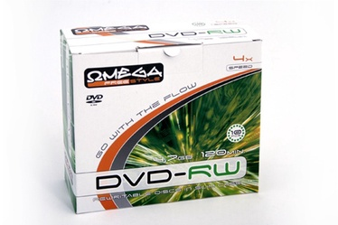 Kompaktinis diskas DVD-RW Omega Slim, 4,7 GB