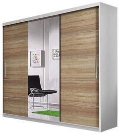 Idzczak Meble Wardrobe Alba White/Sonoma Oak