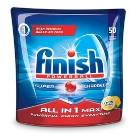 Trauku mazgājamās mašīnas kapsulas Finish All in 1 Max Lemon, 50 gab.