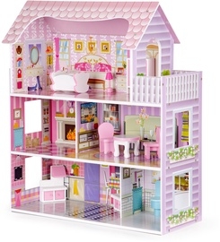 EcoToys Wooden Dollhouse Residence Montana With LED