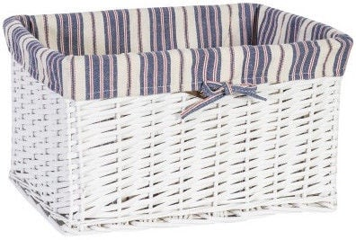 Home4you Basket Max 2 40x26xH24cm White/Blue