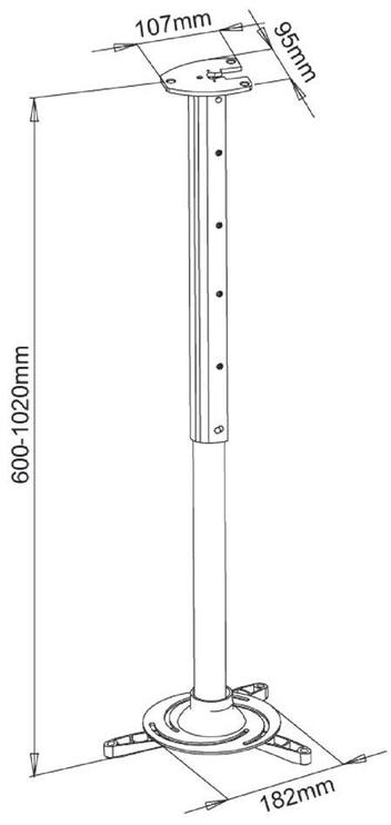 Крепеж ART P-105 Projector Holder 60-102cm Silver
